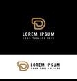 d monogram logo linear gold letters vector image