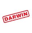 Darwin Rubber Stamp vector image