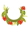 Decorative ribbon with flowers spathiphyllum and