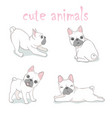 Dog french bulldog logo icon cartoon character