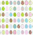 Easter wrapping paper with patterned eggs on white vector image vector image