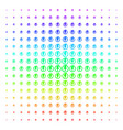 electricity shape halftone spectral effect vector image vector image
