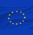 european union flag europe national symbol vector image vector image