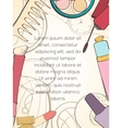 Fashion cosmetic card vector image