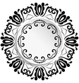 Floral Ornament With Volume Place For Text vector image vector image