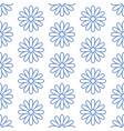floral seamless pattern with flat line icons of vector image vector image