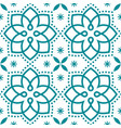 geometric azulejo tile seamless pattern vector image vector image