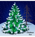 Greeting card with Christmas tree closeup vector image vector image