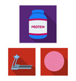 gym and training flat icons in set collection for vector image