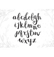 Hand Drawn Script Alphabet Letters Written with a vector image vector image