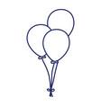happy birthday bunch balloons decoration vector image vector image