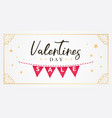 happy valentines day banner on white background vector image vector image