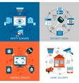 Home Safety Concept Icons Set vector image vector image