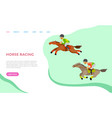 horse racing website with text equine sports vector image vector image