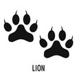 lion step icon simple style vector image vector image