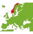 Norway map vector image vector image