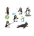penguin characters vector image