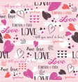 pink background with red valentine heart and vector image