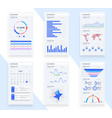presentation template design business data graphs vector image vector image