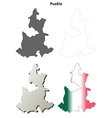 Puebla blank outline map set vector image vector image