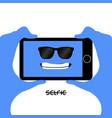 selfie vector image vector image