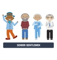 Senior citizens set vector image
