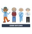 Senior citizens set vector image vector image