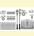 set of forged elements vector image vector image