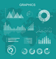 set of transparent graphs and diagrams vector image vector image
