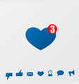 social media icons message vector image vector image