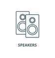 speakers line icon linear concept outline vector image vector image