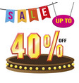 special 40 offer sale tag isolated vector image vector image