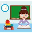 teacher classroom design vector image vector image