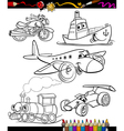 transport set for coloring book vector image vector image