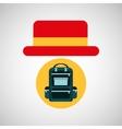 travel tourist hat concept backparker vector image vector image