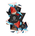 triangle abstract background low poly vector image vector image