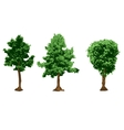 urban trees silhouettes vector image vector image
