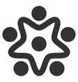 user organization flat icon vector image vector image