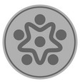 user organization silver coin vector image vector image