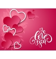 valentines day card with vector image vector image
