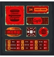 Vintage fast food banner set