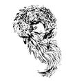 Watercolor fox vector image vector image