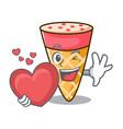 with heart ice cream tone mascot cartoon vector image