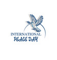 world peace day greeting card diverse people vector image vector image