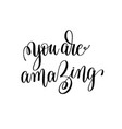 you are amazing black and white modern brush vector image vector image