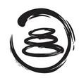 zen stones circle ink brush vector image vector image