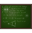 Back school physics vector image