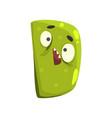cartoon character monster letter d vector image
