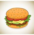 cartoon hamburger icon vector image