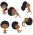 female yoga set vector image